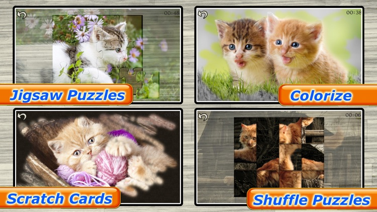 Cute Cats - Real Cat and Kitten Picture Jigsaw Puzzles Games for Kids