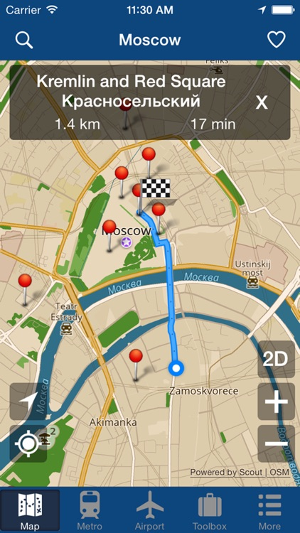 Moscow Offline Map - City Metro Airport screenshot-4