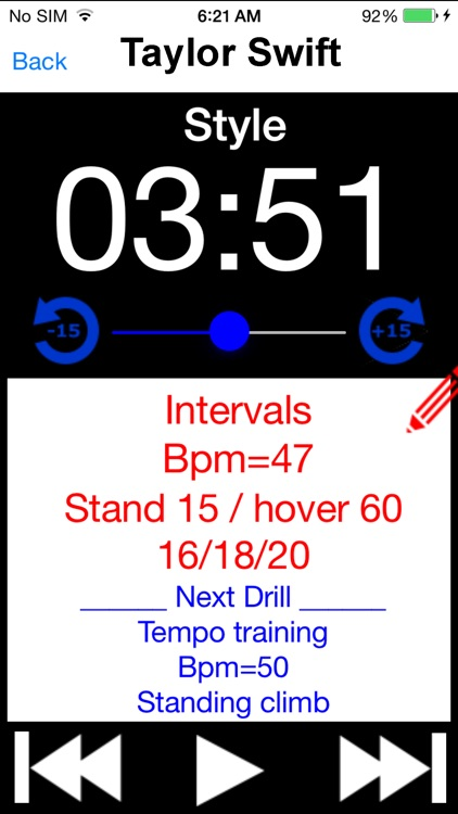 Cycle Music Timer