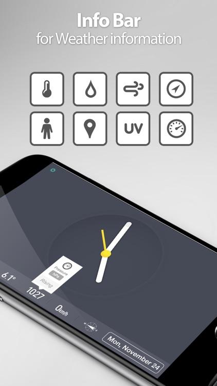 Red Clock FREE Edition - The Minimal Alarm Clock screenshot-4