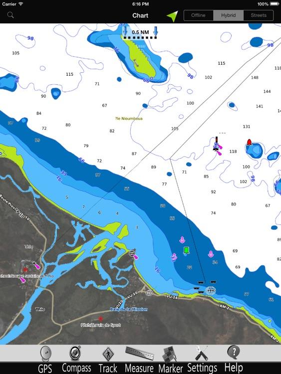 New Caledonia GPS Charts Pro