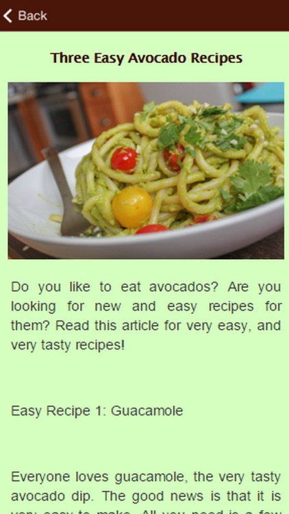 Tasty Avocado Recipes