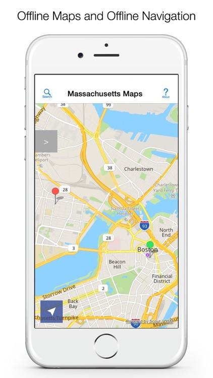 Massachusetts Offline Maps and Offline Navigation screenshot-0