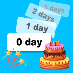 Birthday reminder and countdown with photos