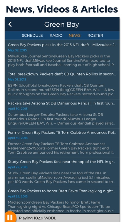 Pro Football Radio & Live Scores screenshot-3