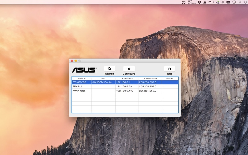 ASUS Device Discovery Screenshot