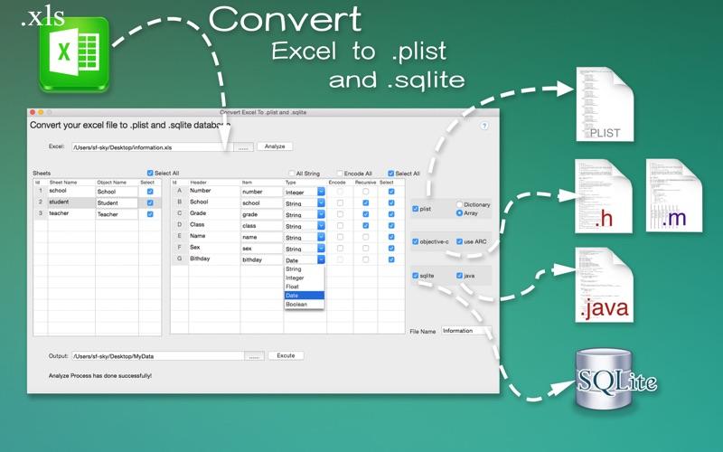 DataConvertor for Excel