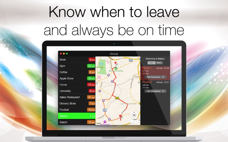 Arrival - GPS driving assistant: ETA, travel time and directions to your favorite locations Screenshot