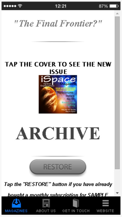 iSpace:Space Explorer Magazine screenshot-3