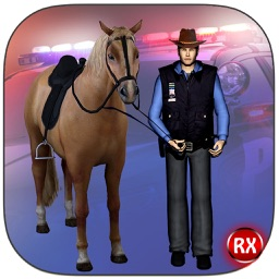 Police Horse Chase Crime City