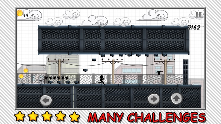 Line Rooftop Run : Stickman Escape Runner Free Edition screenshot-3