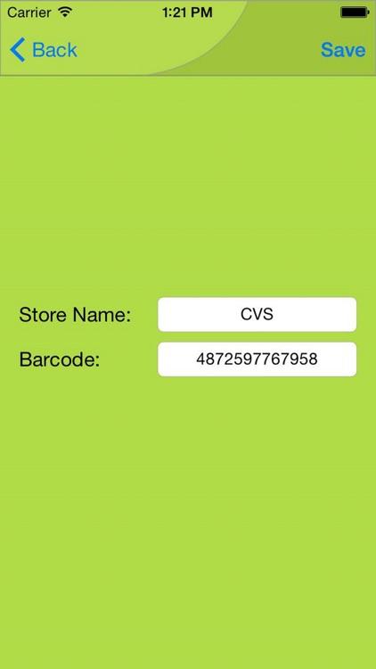 Mobile Key Ring - Barcode Rewards Shopper's Card screenshot-3