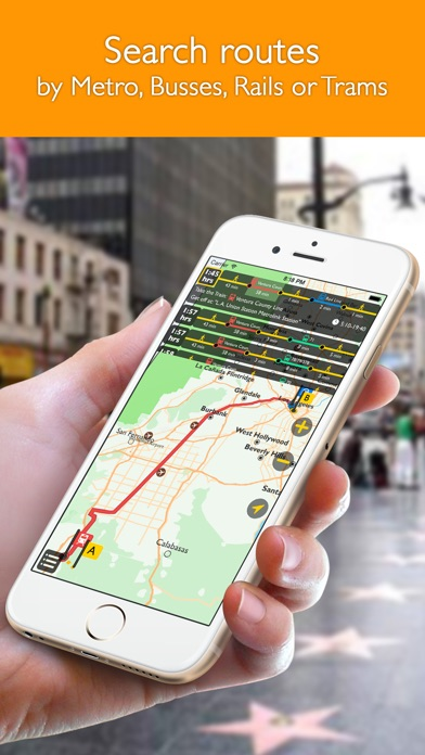 download Los Angeles offline map with public transport route planner for my journey apps 1