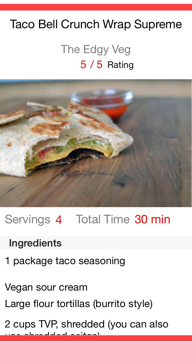 Restaurant Recipes screenshot two