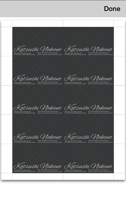 BusinessCardDesigner - Business Card Maker with AirPrint screenshot-4