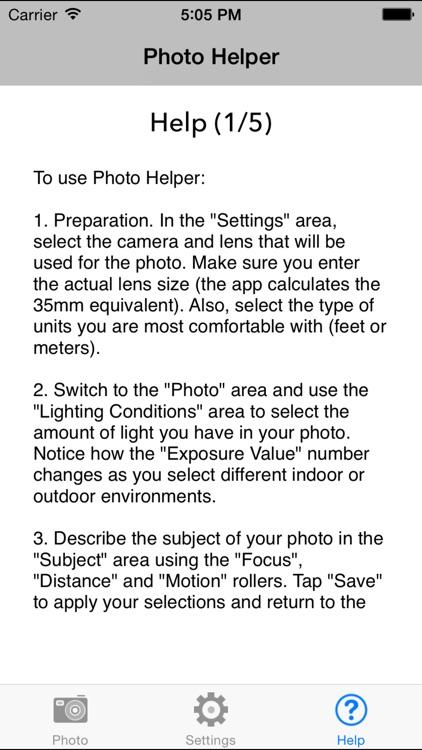 PhotoHelper - Camera Settings For Better Pictures screenshot-4