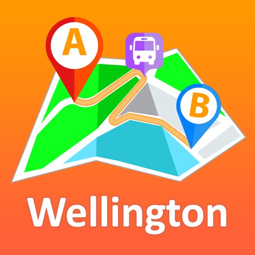 Wellington offline map with public transport route planner for my journey