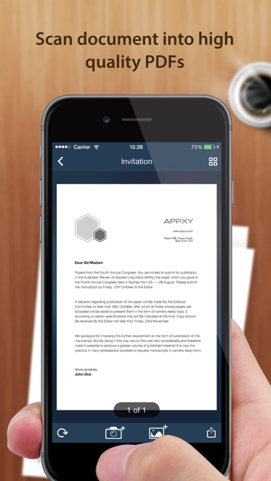 Tiny Scanner+ - PDF scanner to scan document, receipt & fax app image
