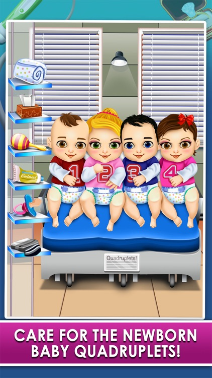 Mommy's Quadruplet Newborn Babies - My Baby Food Maker & Dentist Doctor Salon!