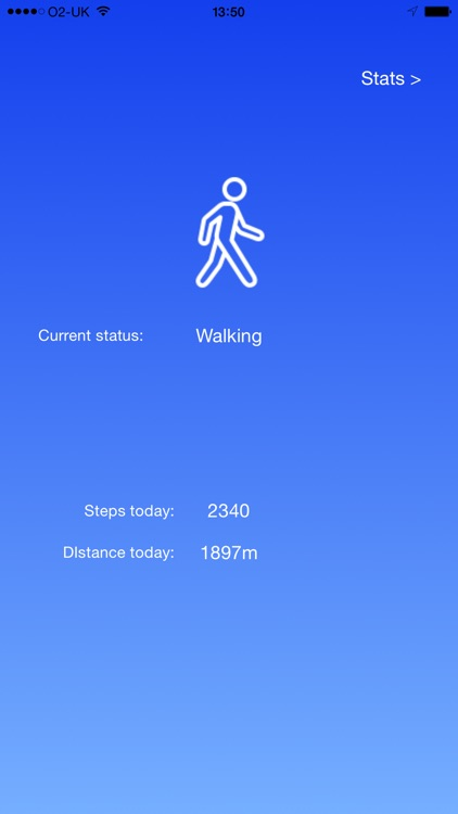 WALK - step counter pedometer, distance and activity tracker.