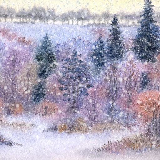 Paint a Winter Landscape in Watercolor