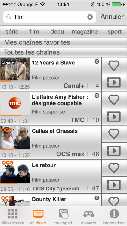 TVcommande d'Orange screenshot-2