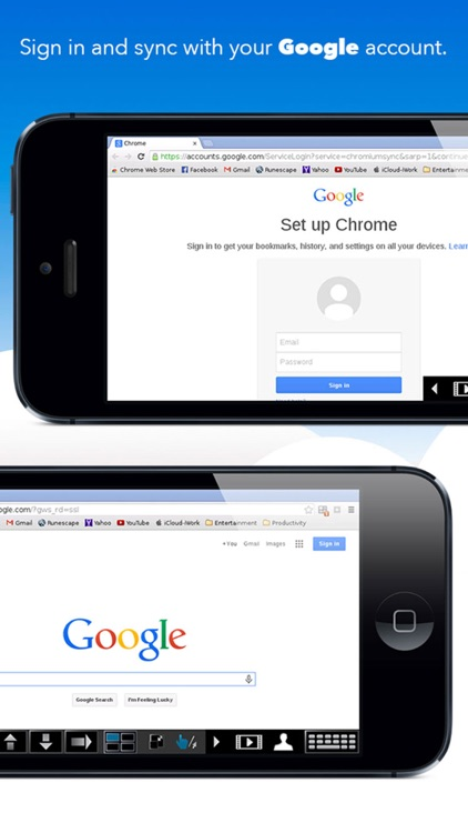 VirtualBrowser for Chrome™ with Flash-browser, Java Player & Extensions - iPhone Edition screenshot-3