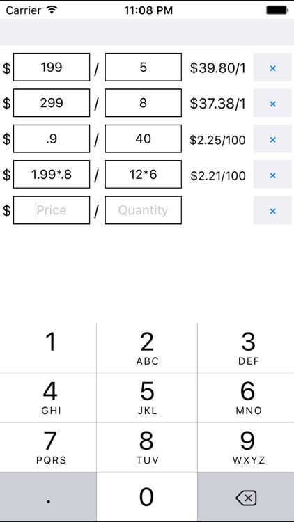 Unit Price Calculator
