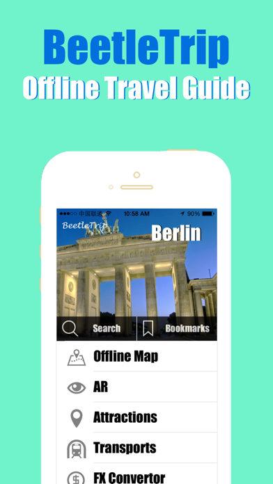 Berlin travel guide and offline city map, BeetleTrip