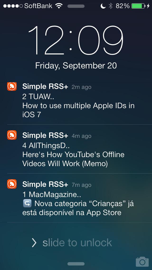 Simple RSS Push+ screenshot1