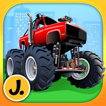 Monster Trucks and Sports Cars - puzzle game for little boys and preschool kids - Free