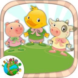Color farm animals - coloring book