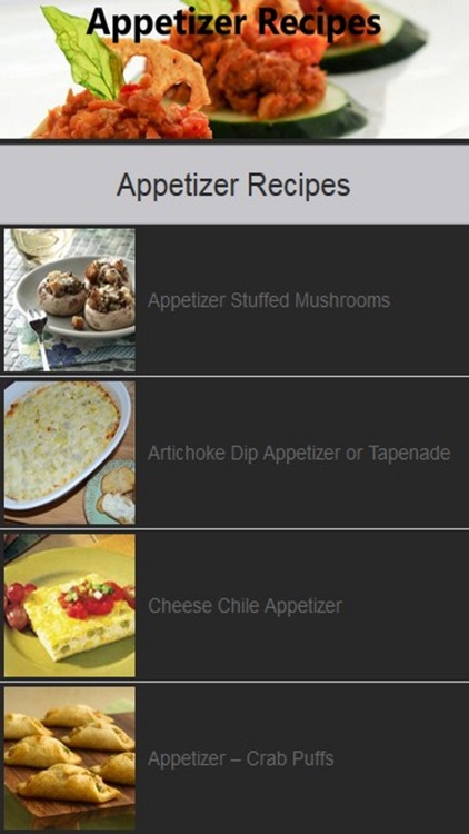 Appetizer Recipe Easy