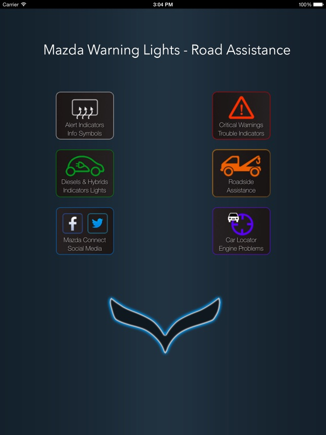 App For Mazda With Mazda Warning Lights And Road Assistance On The