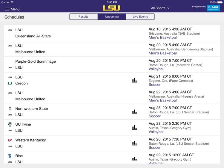 LSUsports Mobile Plus for iPad 2015 screenshot-3