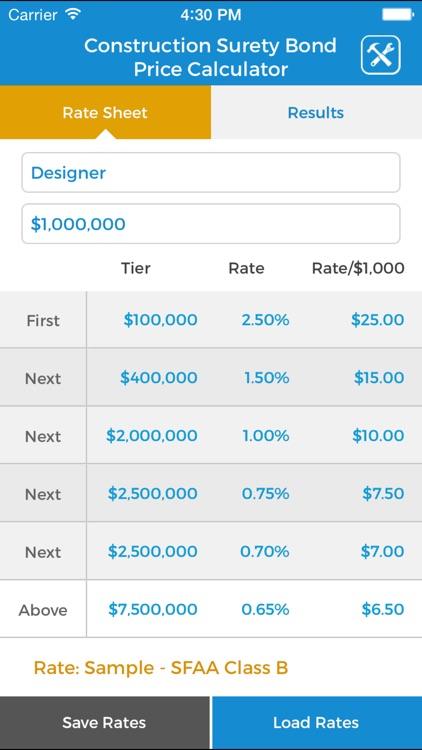 Construction Surety Bond Price Calculator