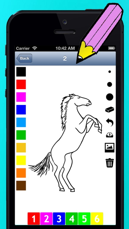 A Coloring Book of Horses for Children: Learn to draw and color
