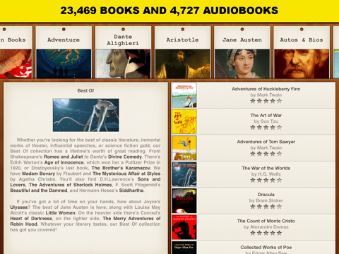Free Books Pro- 23,469 classics for less than a cup of coffee.のおすすめ画像1