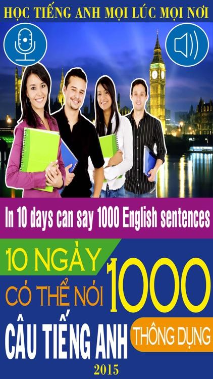 10 ngày có thể nói 1000 câu tiếng Anh – Mẫu câu thông dụng (In 10 days can say 1000 English Sentences – Common Sentences)