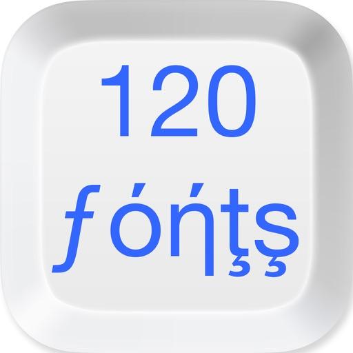 120 Fonts Keyboard icon