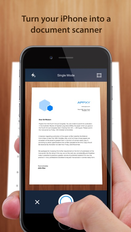 Tiny Scanner+ - PDF scanner to scan document, receipt & fax screenshot-0