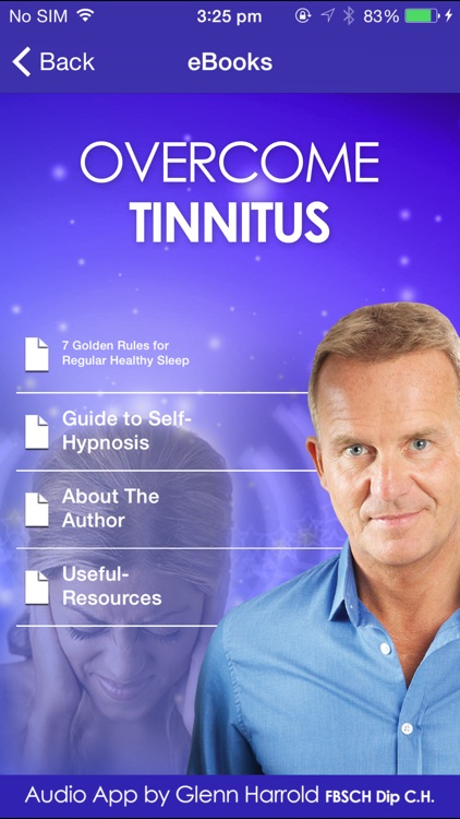Overcome Tinnitus Self-Hypnosis by Glenn Harrold screenshot-3
