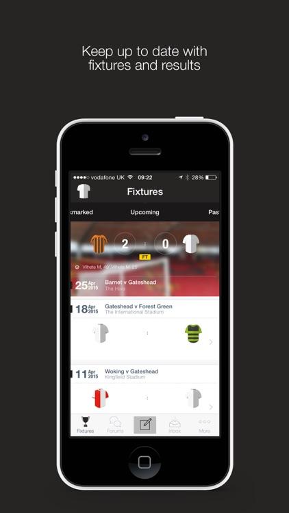 Gateshead FC Fan App