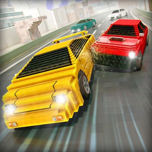 世界 カーレース . マイン フリー ピクセル 車 レーシング ライダー ゲーム