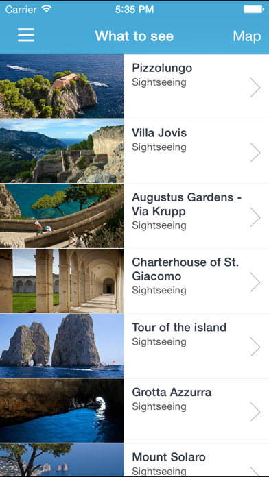 Screenshot of Info Capri1