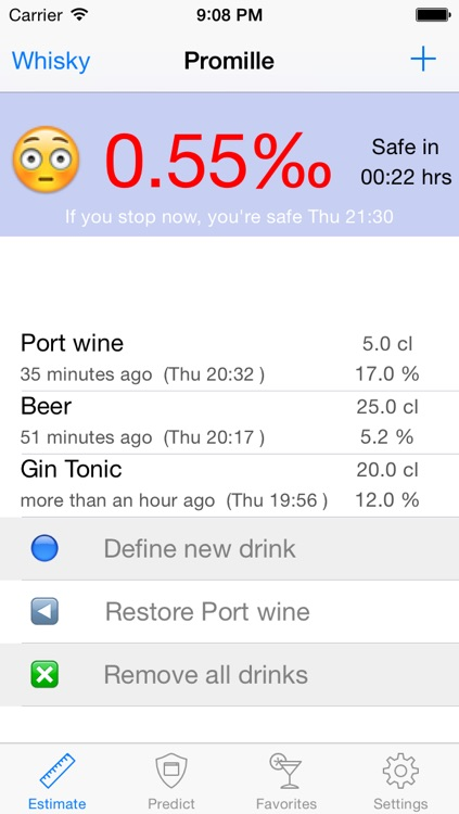 Promille - Blood Alcohol Tracker screenshot-1