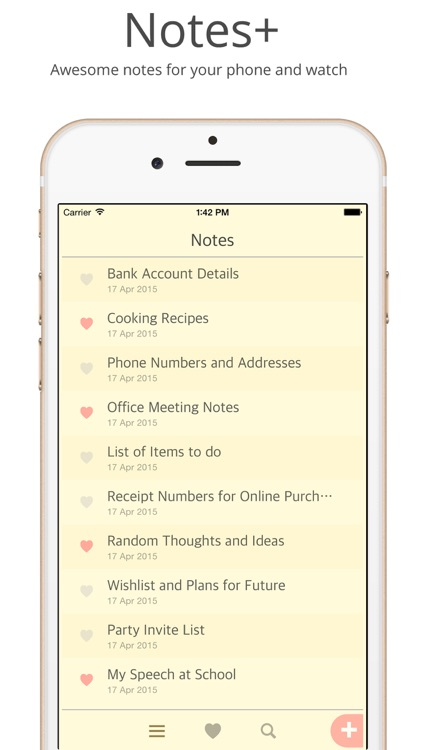 Notes - Captures your everyday notes