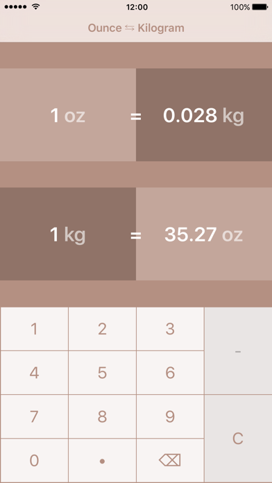 Ounces to Kilogrammes | oz to kg screenshot one