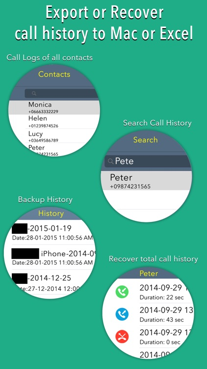 Export Call Logs - Recover or Backup Call History