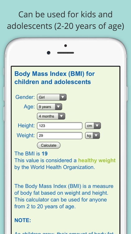 Child BMI Calculator (Body Mass Indicator for Children and Adolescents)